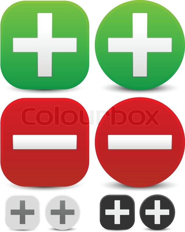 637x800 Plus, Minus Signs. Addition, Subtraction, Positive, Negative Icons