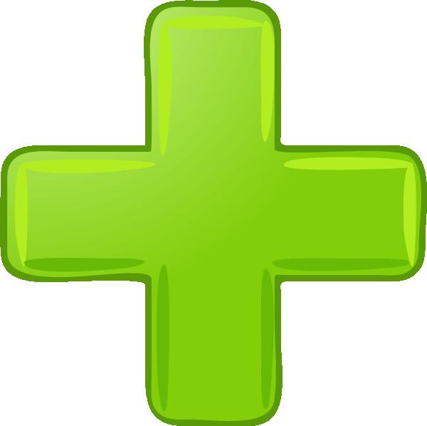 600x598 Green Plus Sign Clip Art Clipart Panda