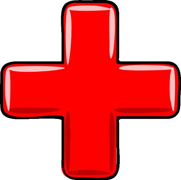 600x598 Red Plus Clip Art