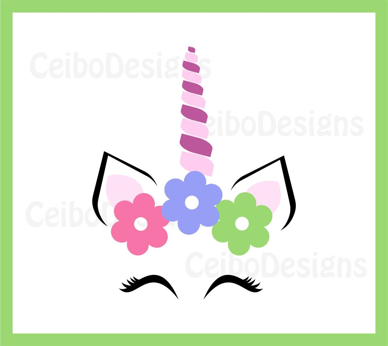 1298x1156 Unicorn Svg, Unicorn Flower Eyelashes, Unicorn Face Svg, Unicorn
