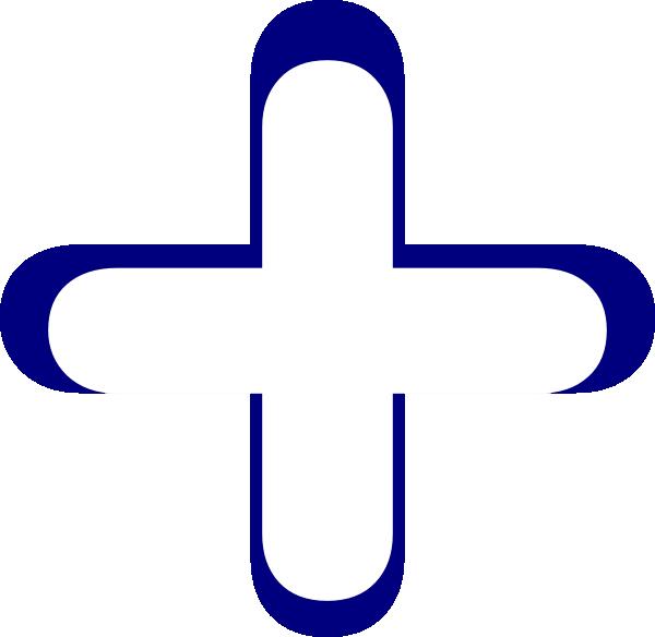 600x584 White And Blue Addition Symbol Clip Art
