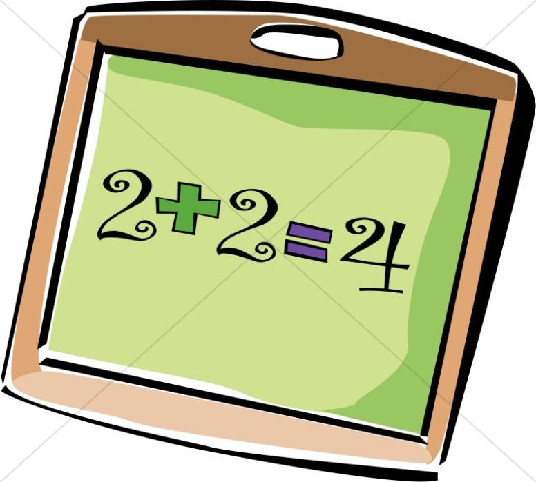 776x699 Addition Chalkboard Christian Classroom Clipart