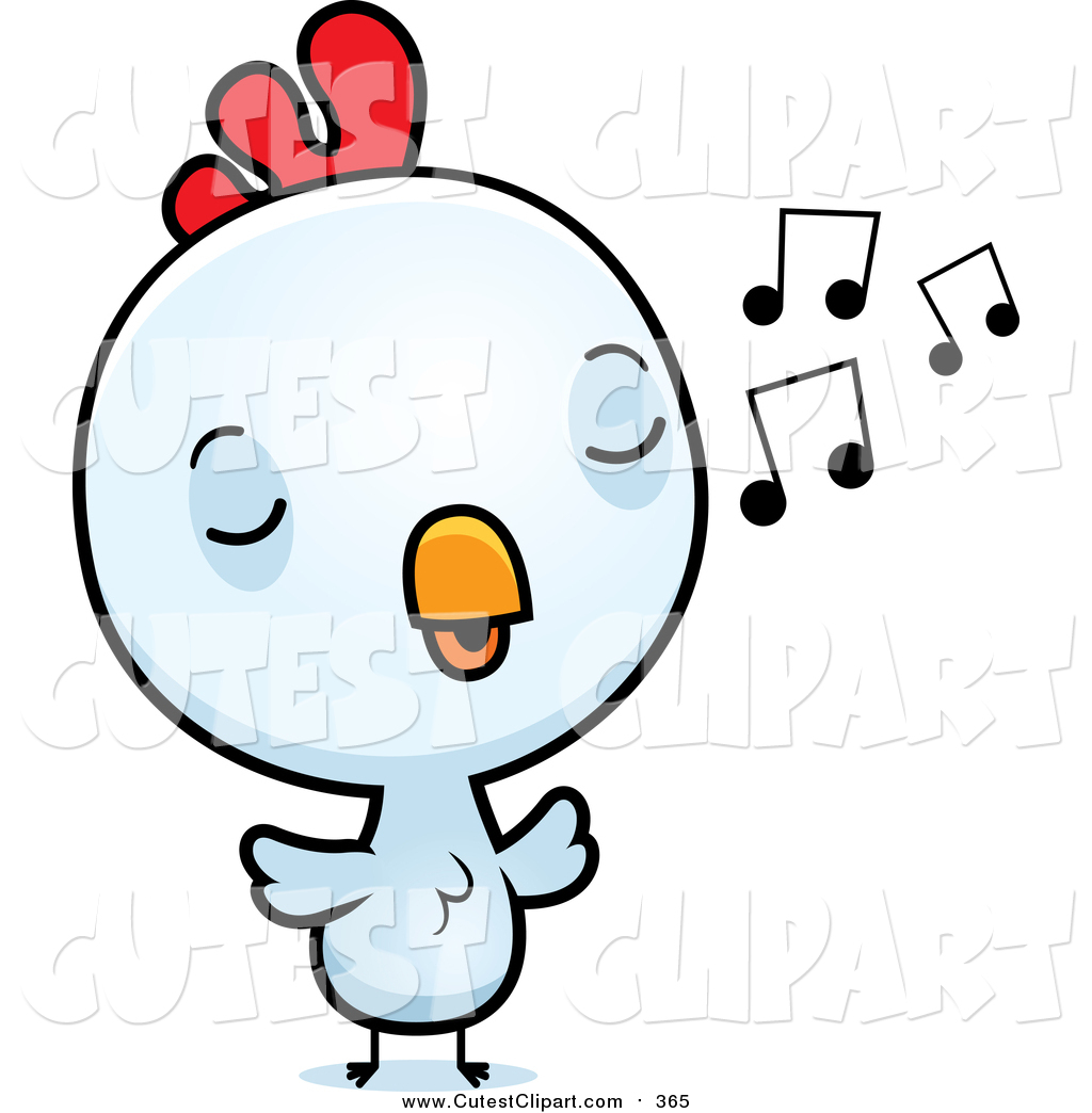 1024x1044 Cartoon Vector Clip Art Of A Cute Baby White Rooster Chick