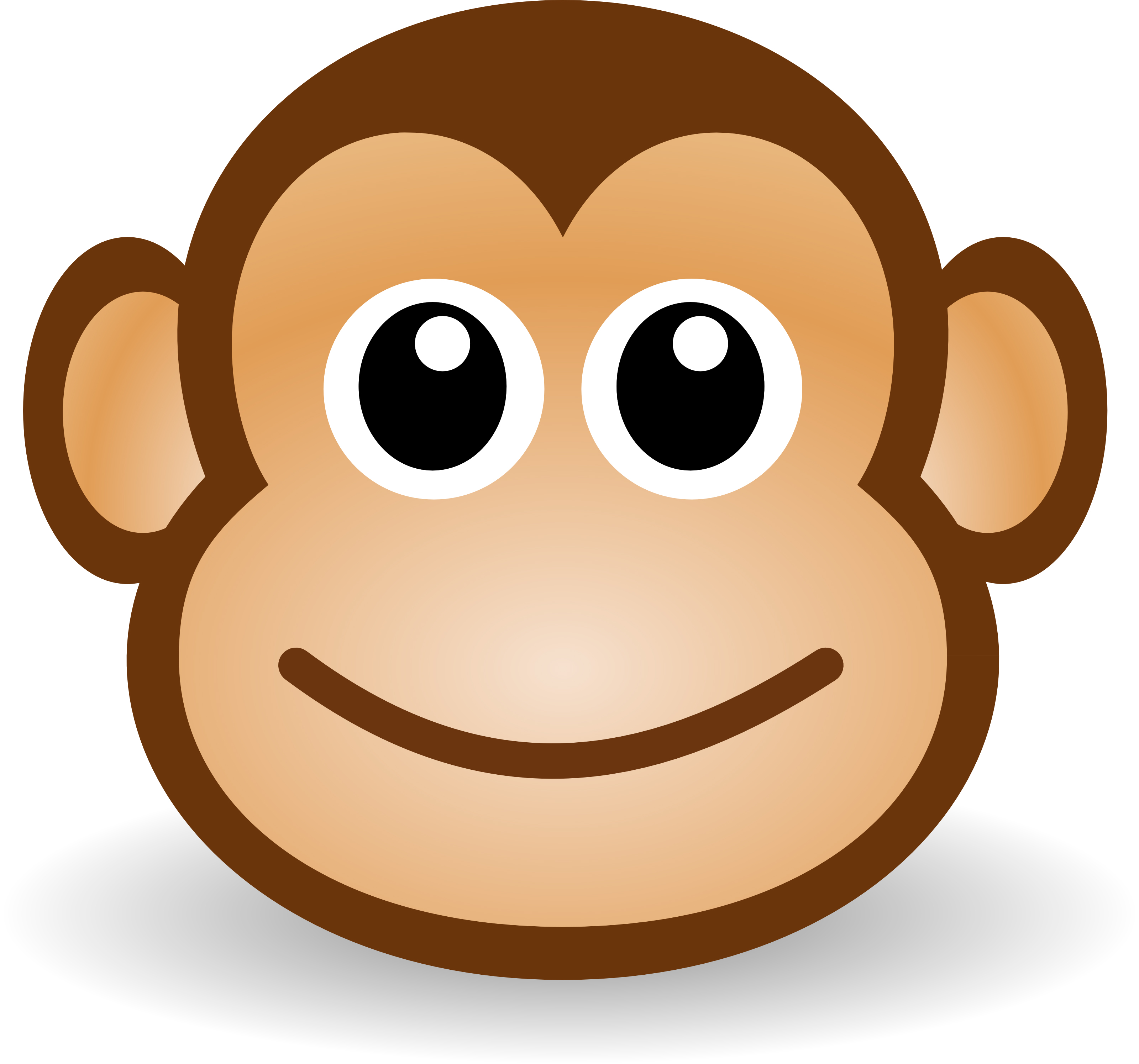 3200x2990 Free Cute Cartoon Monkey Clipart Illustration