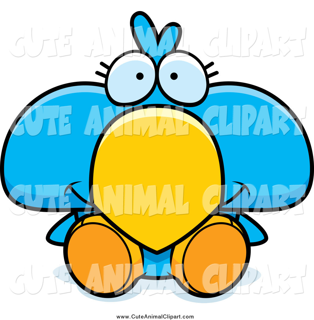 1024x1044 Vector Cartoon Clip Art Of A Cute Blue Bird Sitting By Cory Thoman