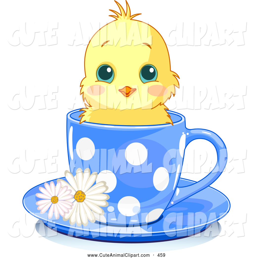1024x1044 Vector Clip Art Of A Cheerful Adorable Yellow Chick In A Blue
