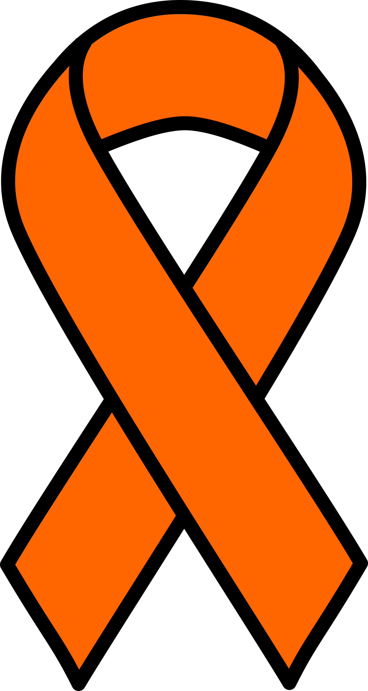 1279x2400 Adorable Orange Cancer Ribbon Clip Art Clipart Kidney And Leukemia