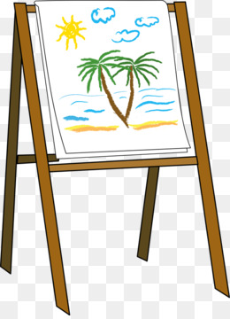 260x360 Easel Painting Art Clip Art