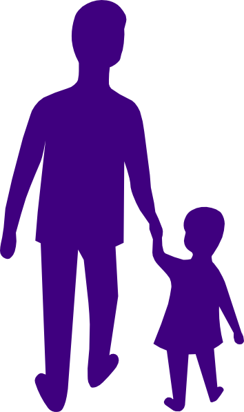 354x597 Purple Adult Child Holding Hands Clip Art
