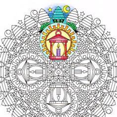 236x236 Mandala Coloring Page