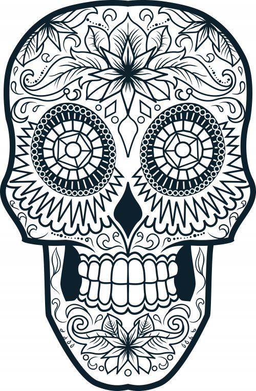 500x765 Pin By Laura Smith On Color Me Sugar Skulls
