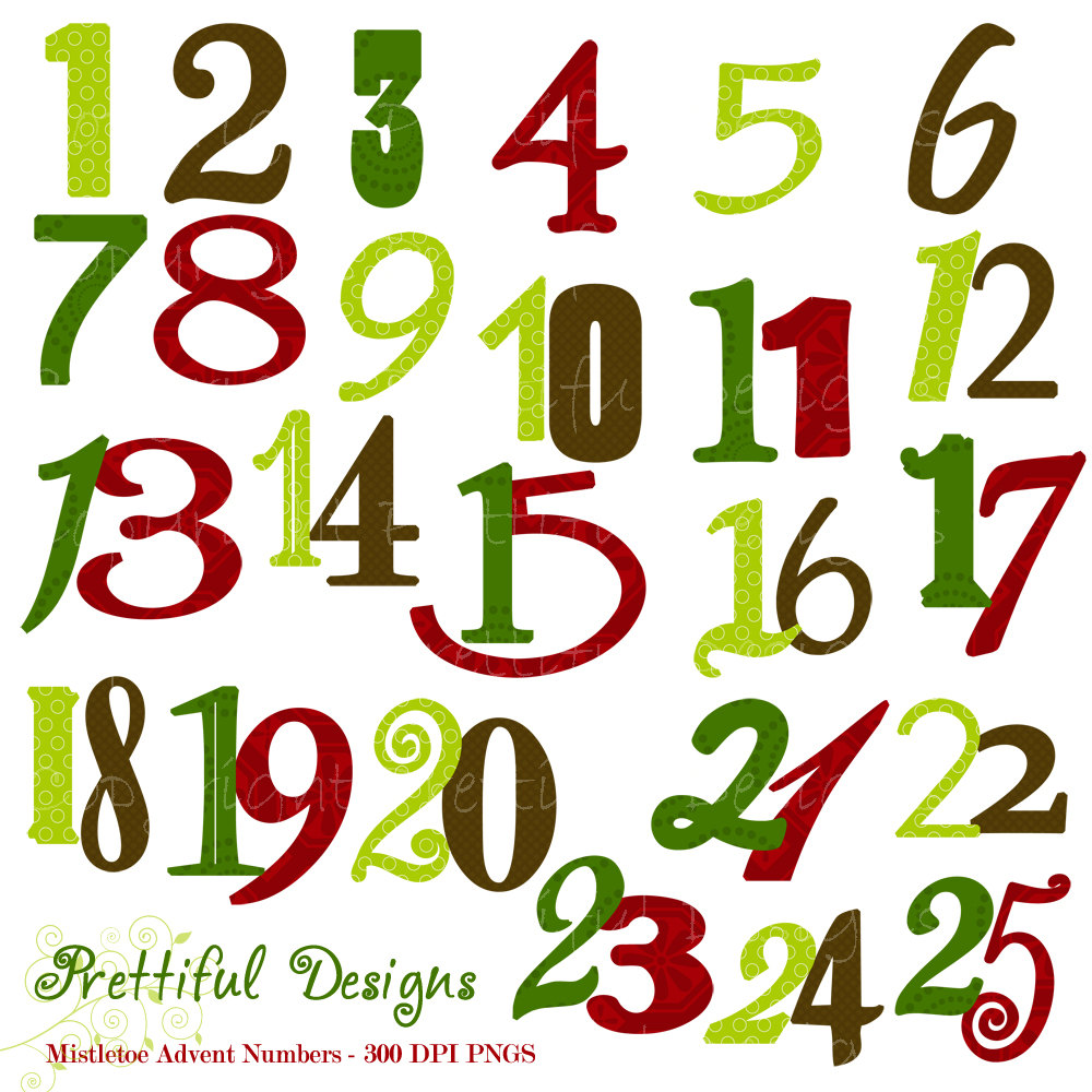 1000x1000 Christmas Numbers Clipart Illustration Of Christamas