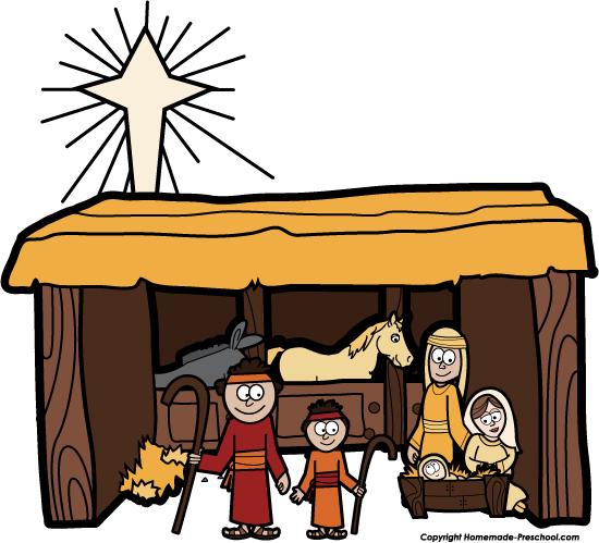 550x499 Top 84 Nativity Scene Clip Art