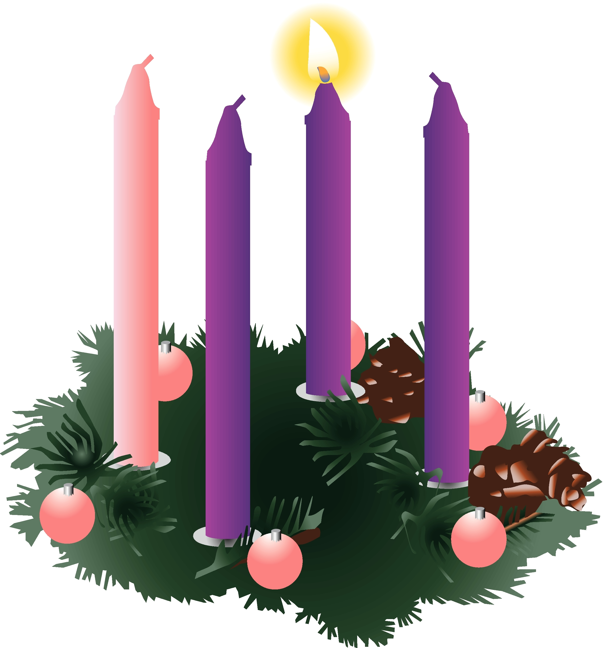 2550x2733 Awesome Advent Wreath Clipart Design