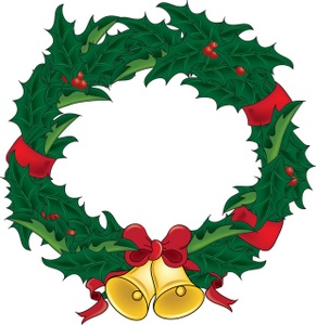 291x300 Collection Of Clipart Christmas Wreath High Quality, Free