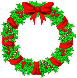 250x254 Christmas Wreath Clipart