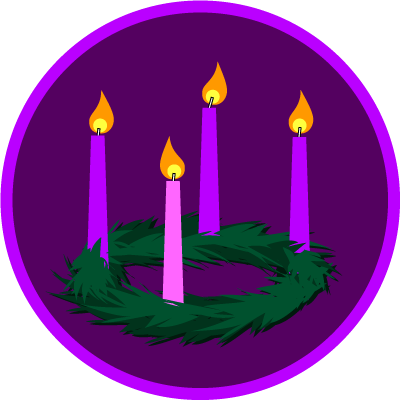 400x400 Advent Wreath Clipart