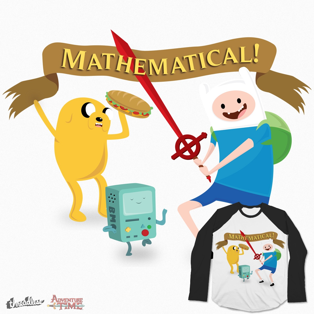 1200x1200 Score Mathematical Adventure Time! By S3ntrydesigns On Threadless