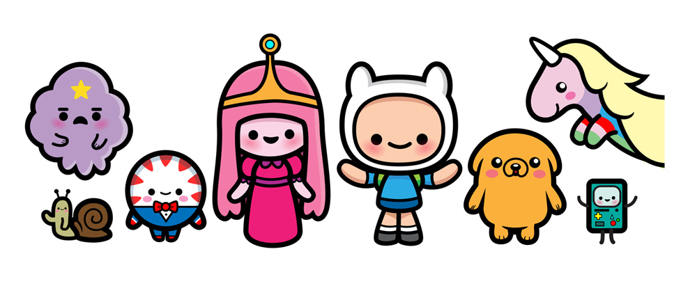 1000x424 Adventure Time Characters Clipart
