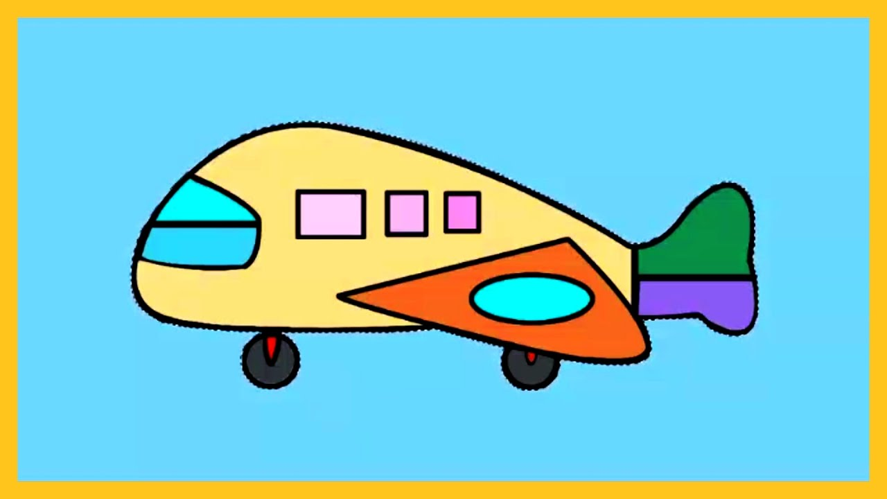 1280x720 Coloring Kids, How To Color An Aeroplane, Lovely Video