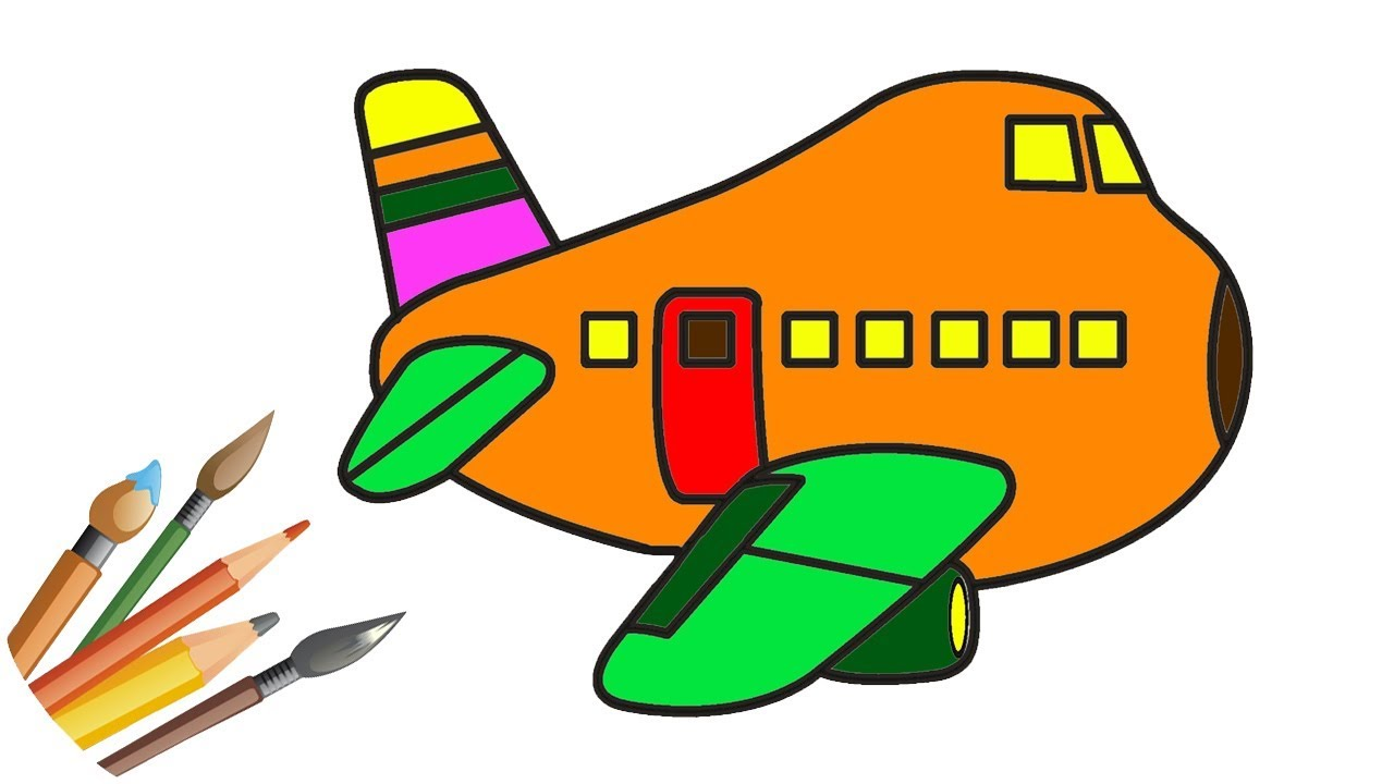 1280x720 How To Draw Airplane Aeroplane Coloring Pages For Kid'S