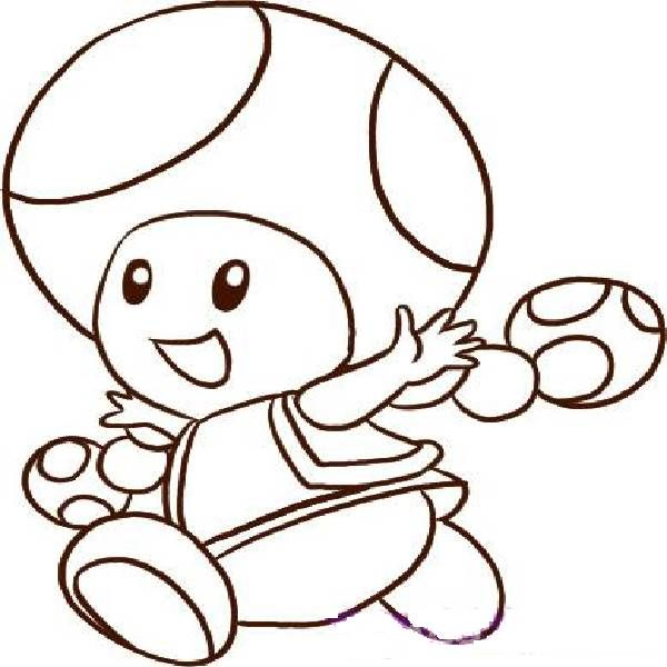 600x600 Toad Coloring Pages