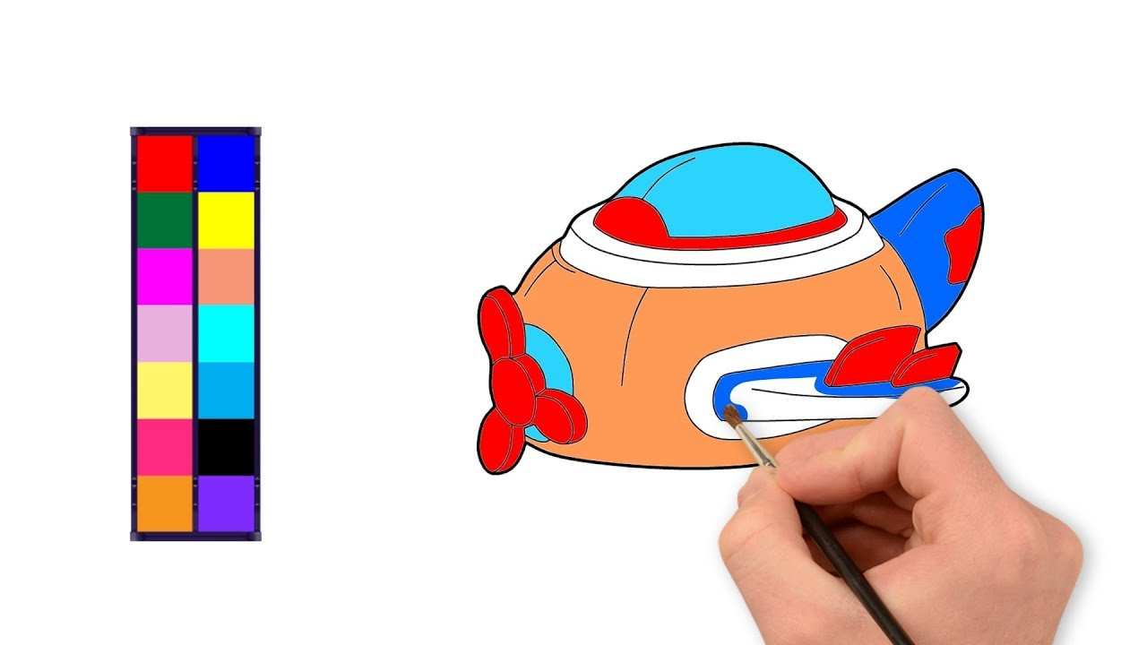 1280x720 Airplane Coloring Pages For Kids