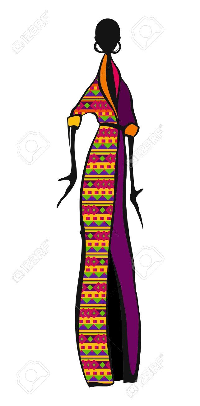 643x1300 Africa Clipart Masai