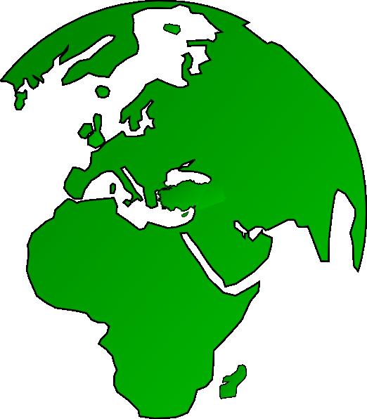 522x596 African Globe Map Green Clip Art