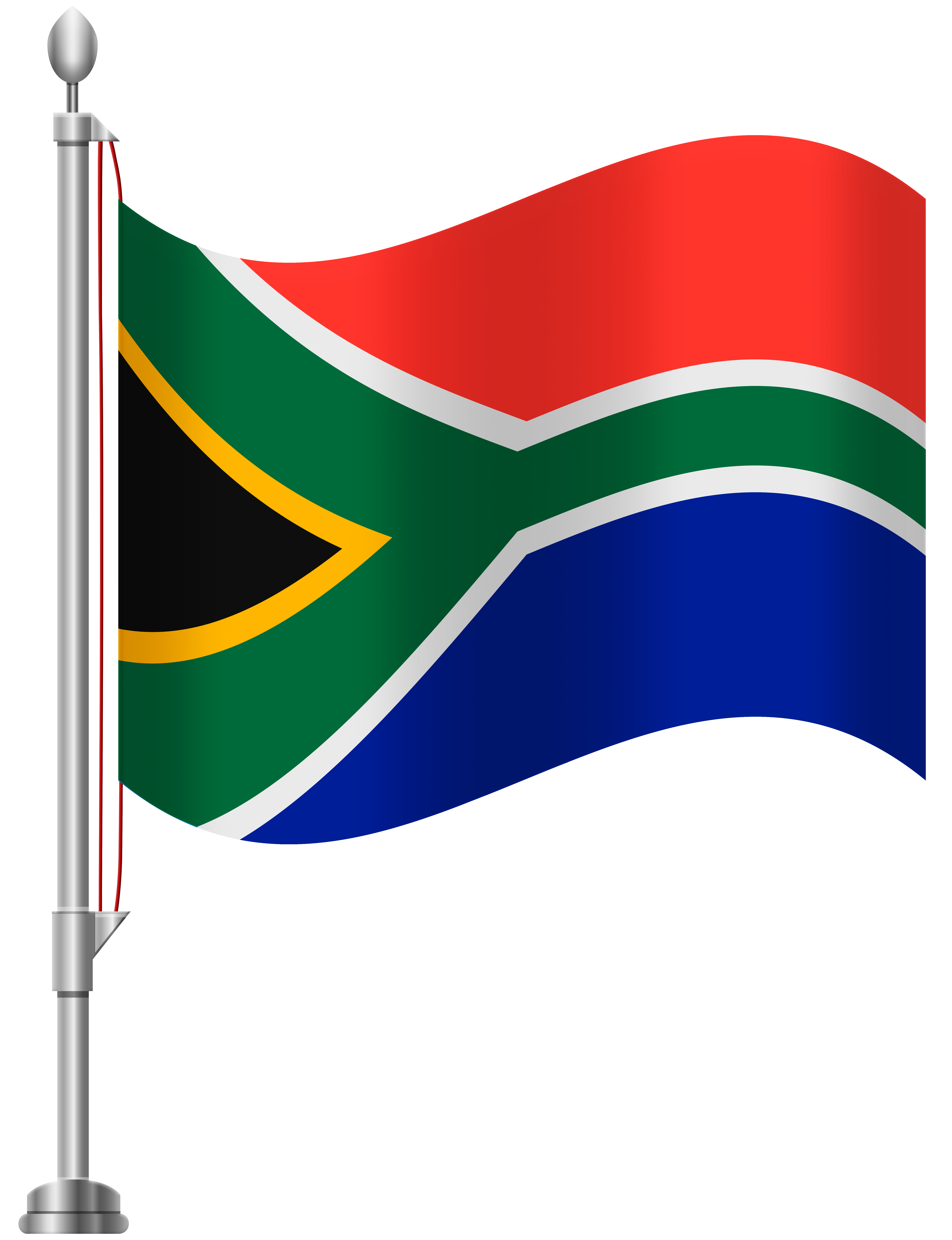 6141x8000 South Africa Flag Png Clip Art