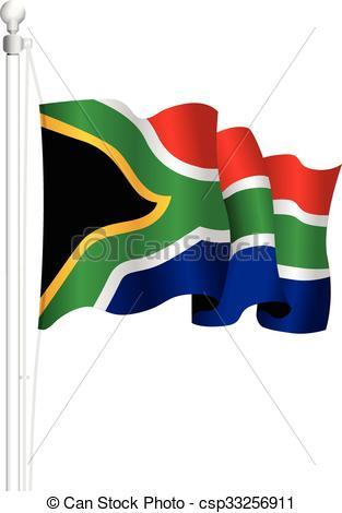 313x470 South Africa National Flag Vector Clip Art