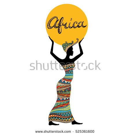 450x470 Africa Clipart African Lady