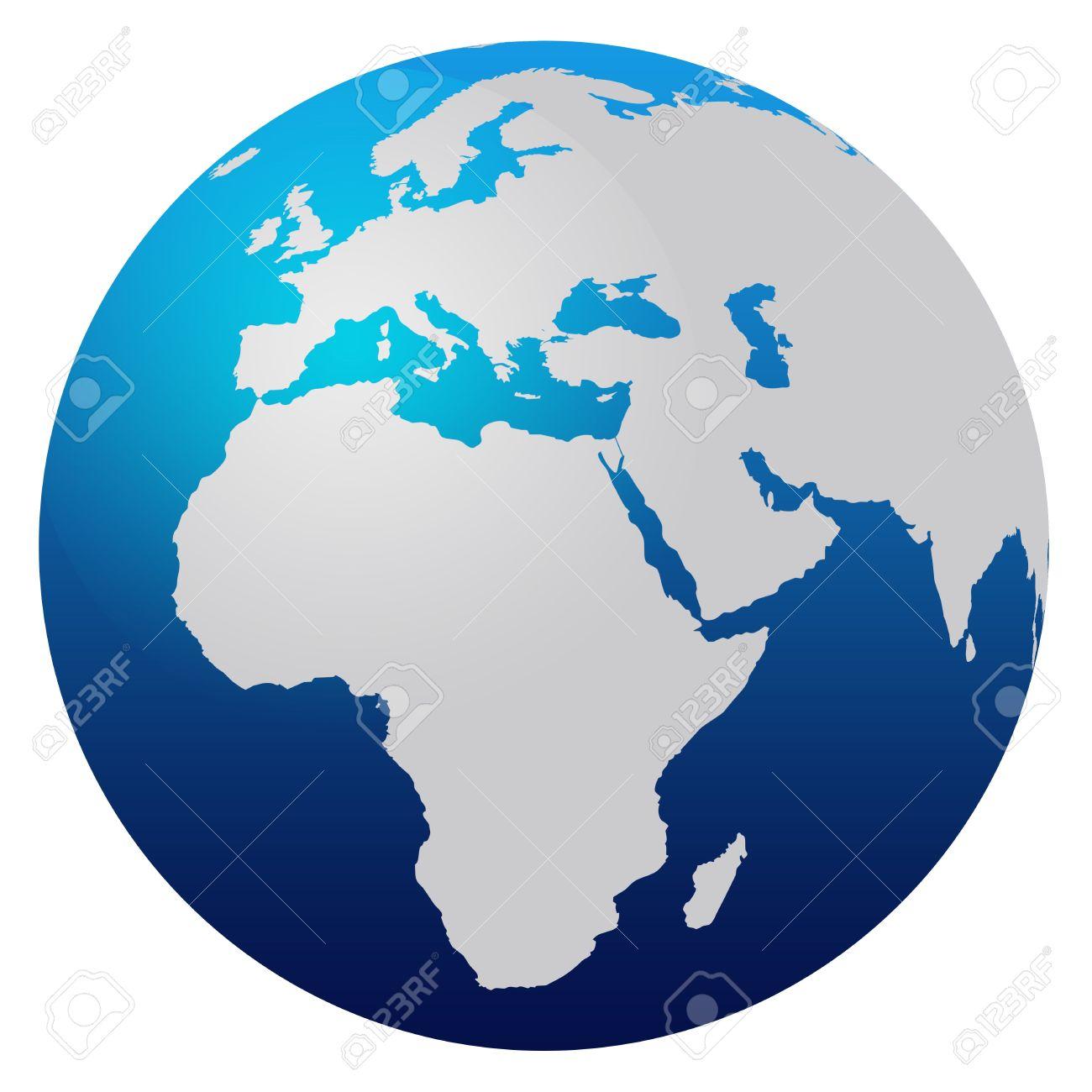 1300x1300 Africa Clipart Earth Globe