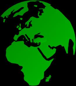 261x298 African Globe Map Green Clip Art