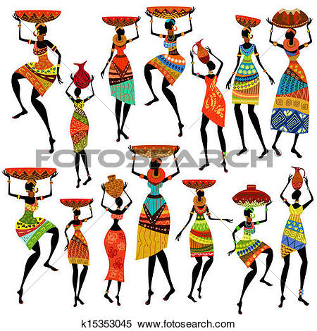 450x470 African Clipart