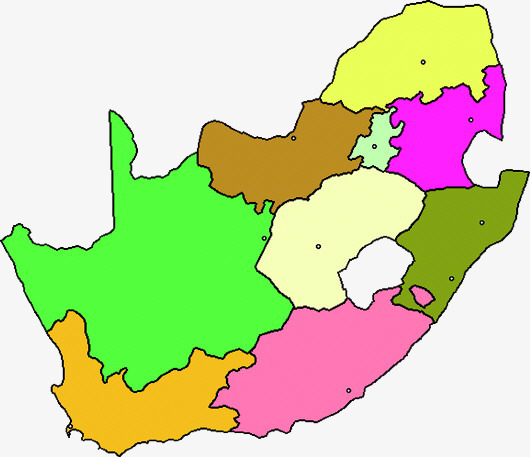 530x457 Colorful South Africa Map, Colourful, South Africa, Map Png Image