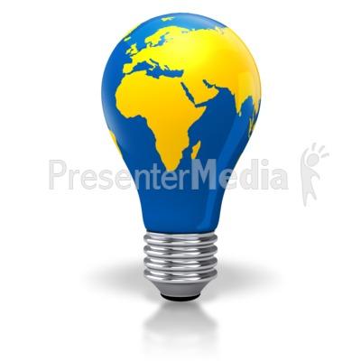 400x400 Light Bulb World Map Africa Europe Asia