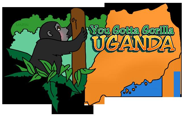 648x411 Africa Clip Art By Phillip Martin, Uganda Map