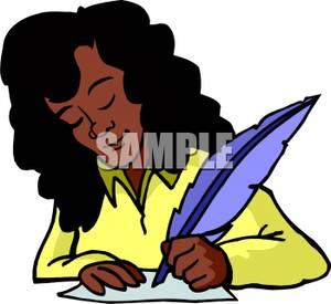 300x275 An African American Woman Writing With A Feather Pen