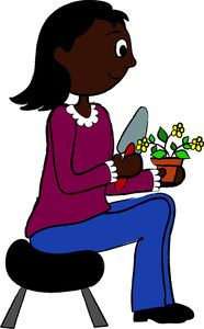 186x300 Gardening Clipart Image