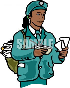 278x350 Royalty Free Clip Art Image African American Female Mail Carrier
