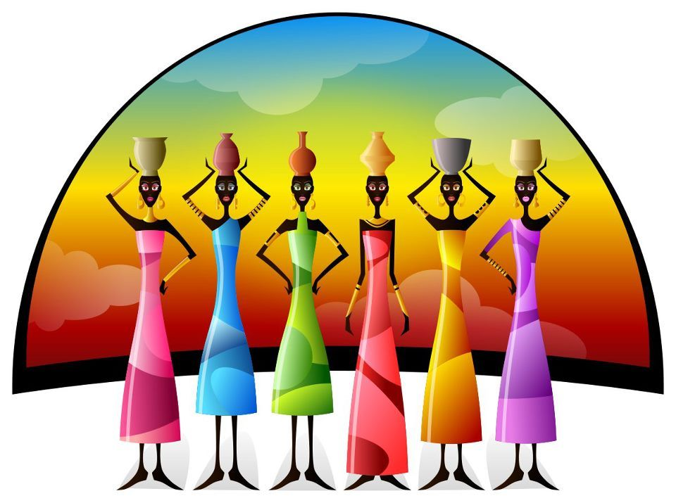 960x715 African Color Ladies Colorful Things Africans