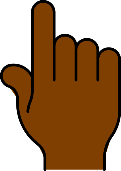 420x594 Hand Pointing African Clip Art