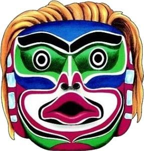 287x300 Masks Clipart Aboriginal