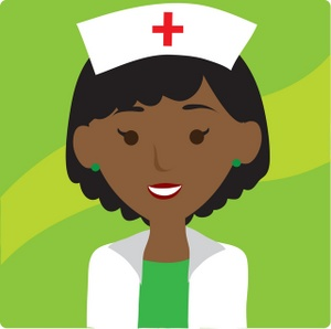 300x298 Nurse Clipart Image Clip Art Illustration Of An African American