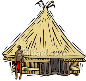 300x285 Village Clipart African Art 4033294