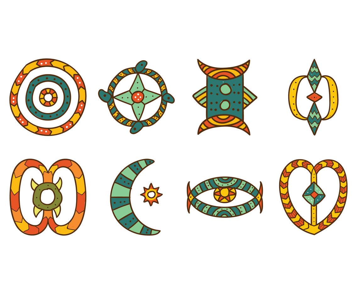 1136x936 African Symbol Set Vector Art Amp Graphics