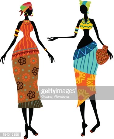 375x457 Beautiful African Woman In Traditional Costume Stock Vectors