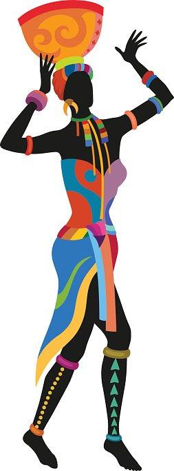 253x684 Ethnic Dance African Woman Premium Clipart