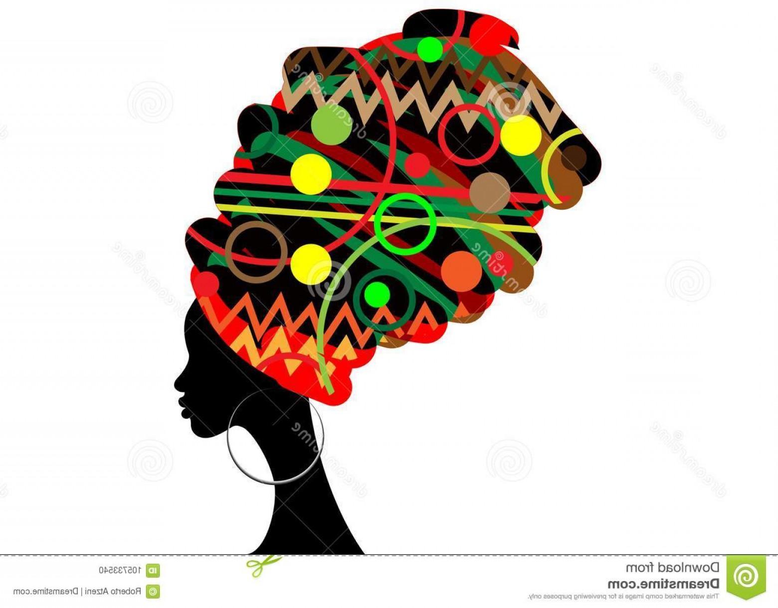 1560x1221 Portrait Beautiful African Woman Traditional Turban Kente Head